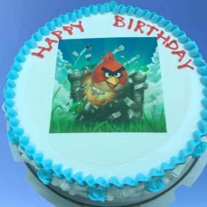 Angry Bird Themed Cake