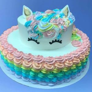 Rainbow Unicorn Themed Cake