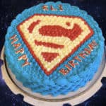 Superman Themed Cake